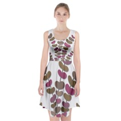 Magenta decorative plant Racerback Midi Dress