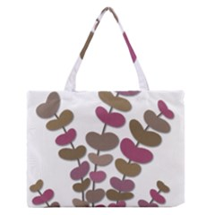 Magenta decorative plant Medium Zipper Tote Bag