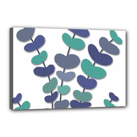 Blue decorative plant Canvas 18  x 12
