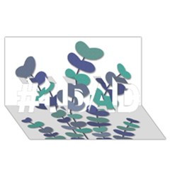 Blue decorative plant #1 DAD 3D Greeting Card (8x4)