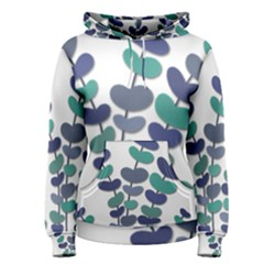 Blue decorative plant Women s Pullover Hoodie