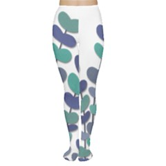 Blue decorative plant Women s Tights