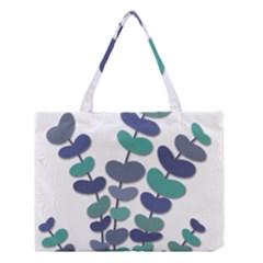 Blue decorative plant Medium Tote Bag