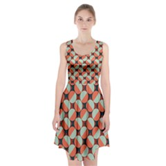 Modernist Geometric Tiles Racerback Midi Dress