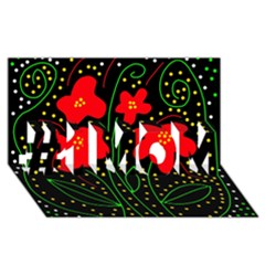 Red flowers #1 MOM 3D Greeting Cards (8x4)
