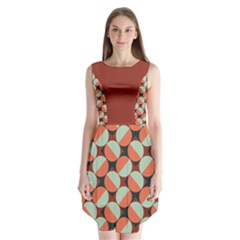Modernist Geometric Tiles Sleeveless Chiffon Dress