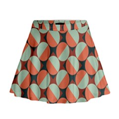 Modernist Geometric Tiles Mini Flare Skirt