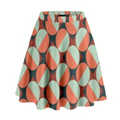 Modernist Geometric Tiles High Waist Skirt
