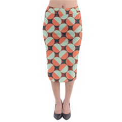 Modernist Geometric Tiles Midi Pencil Skirt