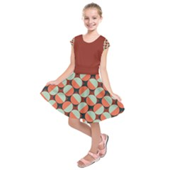 Modernist Geometric Tiles Kid s Short Sleeve Dress