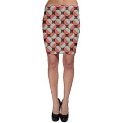 Modernist Geometric Tiles Bodycon Skirt