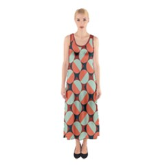 Modernist Geometric Tiles Sleeveless Maxi Dress