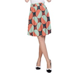Modernist Geometric Tiles A Line Skirt