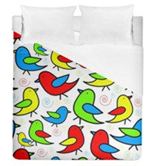 Colorful Cute Birds Pattern Duvet Cover Single Side (queen Size)