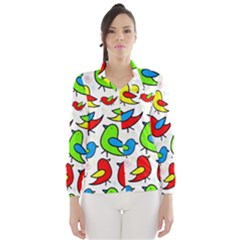 Colorful cute birds pattern Wind Breaker (Women)