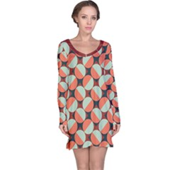 Modernist Geometric Tiles Long Sleeve Nightdress