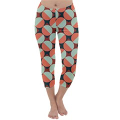 Modernist Geometric Tiles Capri Winter Leggings