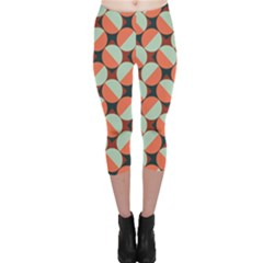 Modernist Geometric Tiles Capri Leggings