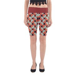 Modernist Geometric Tiles Yoga Cropped Leggings