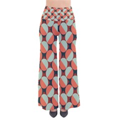 Modernist Geometric Tiles Women s Chic Palazzo Pants