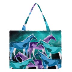 Horses Under A Galaxy Medium Tote Bag