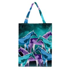 Horses Under A Galaxy Classic Tote Bag
