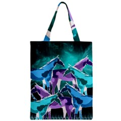 Horses Under A Galaxy Zipper Classic Tote Bag