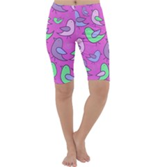 Pink birds pattern Cropped Leggings