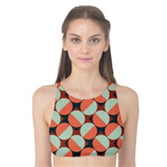 Modernist Geometric Tiles Tank Bikini Top