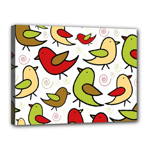 Decorative birds pattern Canvas 16  x 12