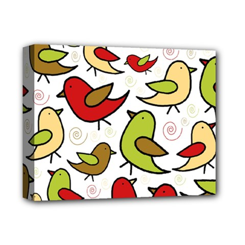 Decorative birds pattern Deluxe Canvas 14  x 11