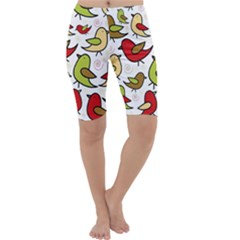 Decorative birds pattern Cropped Leggings