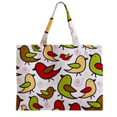 Decorative birds pattern Zipper Mini Tote Bag