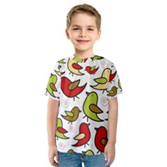 Decorative birds pattern Kid s Sport Mesh Tee