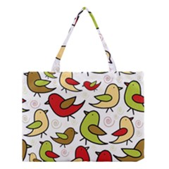 Decorative birds pattern Medium Tote Bag