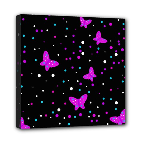 Pink butterflies  Mini Canvas 8  x 8