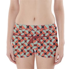 Modernist Geometric Tiles Boyleg Bikini Wrap Bottoms