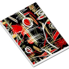 Artistic abstract pattern Large Memo Pads