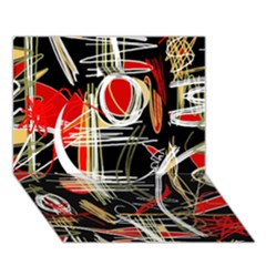 Artistic abstract pattern Circle 3D Greeting Card (7x5)