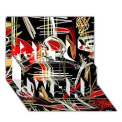 Artistic abstract pattern Get Well 3D Greeting Card (7x5)