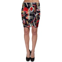 Artistic abstract pattern Bodycon Skirt