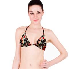 Artistic abstract pattern Bikini Top