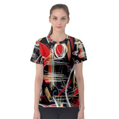 Artistic abstract pattern Women s Sport Mesh Tee