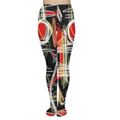 Artistic abstract pattern Women s Tights