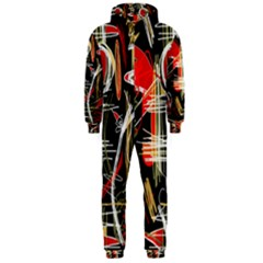 Artistic abstract pattern Hooded Jumpsuit (Men)