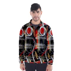 Artistic abstract pattern Wind Breaker (Men)