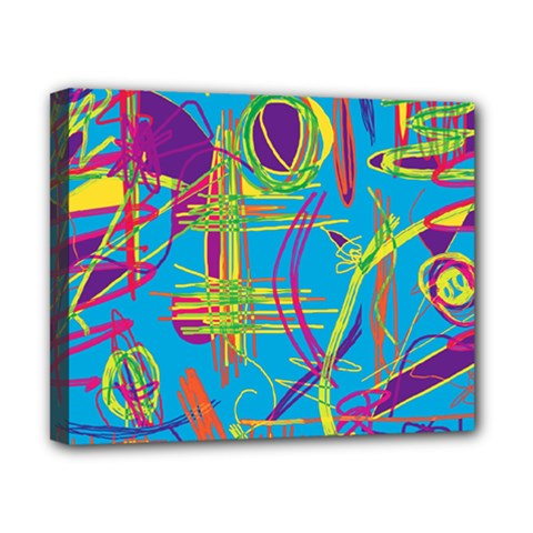 Colorful abstract pattern Canvas 10  x 8