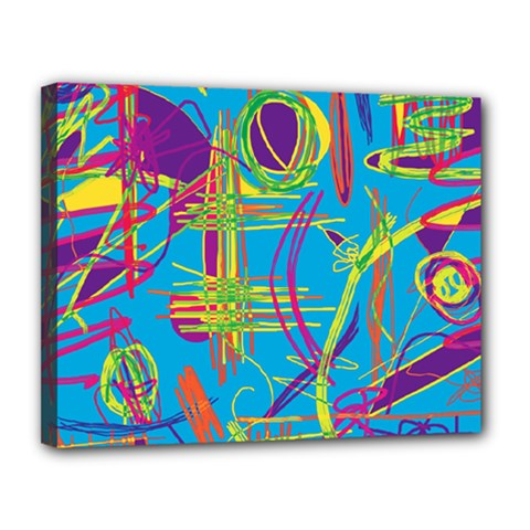 Colorful abstract pattern Canvas 14  x 11