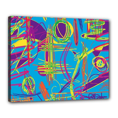 Colorful abstract pattern Canvas 20  x 16
