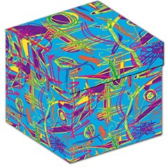 Colorful abstract pattern Storage Stool 12